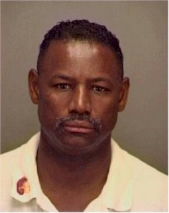 1999 Mug Shot of Councilman Tommy Jones arrest for the possession of crack cocaine.  Ex-Merced District Attorney embezzler Gordon Spencer decided not to prosecute Jones.  Jones didn't like it much when the Badger Flats Gazette wrote about it.