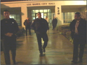 March 3rd, 2010, Los Banos City Hall, Person confessing to death threats made to Forte at podium, Forte kept outside under threat of arrest.